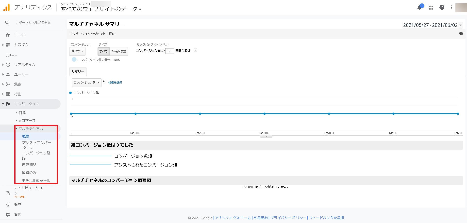 GoogleアナリティクスのCV測定結果の確認方法4